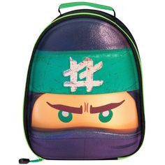 Lego Ninjago Ninjago 3D Lunch Bag (41 BRL) ❤ liked on Polyvore featuring home, kitchen & dining and food storage containers