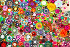 Your daily dose of color: Childhood Dreams | Filtered Spirograph Art | Color Marker + Collage | Rachel Evans Designs