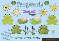 ❤ Diese lustige Froschdatei ist für Mädchen und Jungen, Gross und Klein gut geeignet!      ❤ Folgende sechzehn Dateien sind in dem Set enthalten:  ...