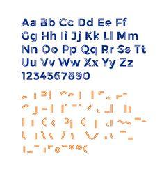 Ailerons was inspired by aircraft models from the 40s. The typeface was designed for an experimental project of airmodels made by Adilson Gonzales de Oliveira Junior designer from Bauru, Brazil