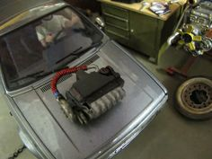 VW Golf 1 II Corrado VR6 Modellauto Motor Platte Bausatz 1/18 Umbau Motor Tuning   eBay