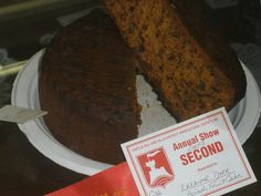 2015 Castle Hill Show 2nd Boiled Fruit Cake
