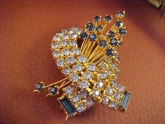 Vintage Rhinestone Brooch/Pin Made in Austria by horstpa on Etsy, $137.50