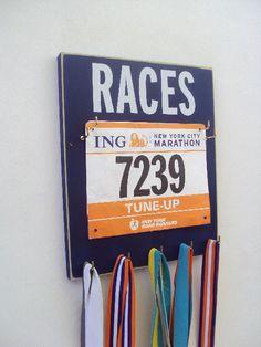 Make Race Bib Displays a stylish Décor Piece by runningonthewall, $33.00