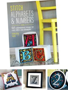 My new book! Lots of alphabets and number charted designs for you to make your own personalised stitched items!