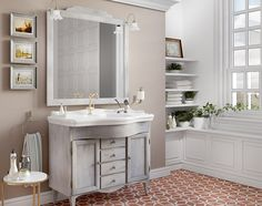 Mobilier de baie în stilurile shabby chic, rustic și clasic