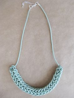 Love this simple waxed cotton necklace, in such a sweet shade too.
