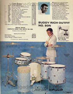 Slingerland Buddy Rich Outfit.  from VintageDrumGuide.com