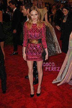 Met Gala 2013: Kate Bosworth walks the red carpet. Balmain