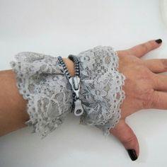 Steampunk lace bracelet