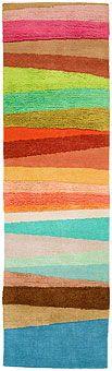 Rainbow rug:  Doug and Gene Meyer Scandinavian Stripes Too Hand knotted