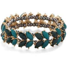 Reign Forest Bracelet ($20) ❤ liked on Polyvore featuring jewelry, bracelets, accessories, plastic bangles and plastic jewelry