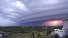I've never seen the sky look like this before. Craziness. (Saskatchewan, Canada)