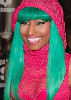 images of unusual hairstyles | repeat offender, Nicki Minaj , started her downward hair slope with ...
