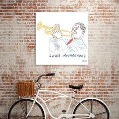 Découvrez «Louis Armstrong The Jazzman», Édition Exclusive Oeuvres sous Verre par Karotène - À partir de 80€ - Curioos