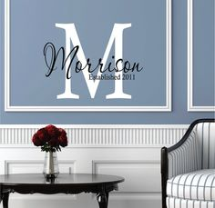 Wall Decals Personalized Family Name - Wedding Decor - Livingroom Decor - Family Name Decal on Etsy, $24.00