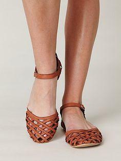 Jeffrey Campbell lattice mary jane sandals.