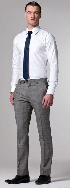 gray slacks with tie - Google Search   Style   Pinterest   Gray slacks