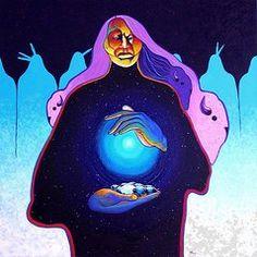 joe triano paintings | ... White Buffalo Paintings - She Carries the Spirit by Joe Triano
