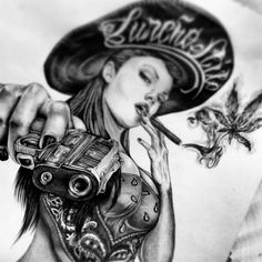 Top 30 Best Canvas Designs Art Wallpaper for Girls Pictures Chicano Tattoos, Body Art Tattoos, Girl Tattoos, Sleeve Tattoos, Payasa Tattoo, Tattoo Drawings, Art Drawings, Inca Tattoo, Arte Cholo