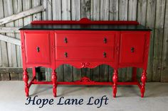 by Hope Lane Loft - Painted in General Finishes Holiday Red
