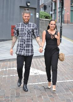 Smitten kittens: Stephanie Davis and boyfriend Sam Reece spent more time together on Sunda...