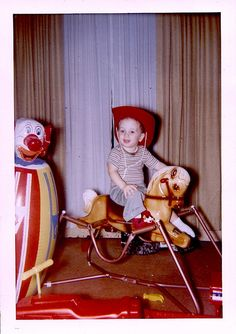 1960s vintage Hobby Horse & Bozo The Clown Punching Bag - this was me and millions of other Baby Boomer boys.
