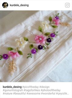 It is a website for handmade creations,with free patterns for croshet and knitting , in many techniques & designs Ribbon Embroidery Tutorial, Hand Embroidery Dress, Hand Embroidery Stitches, Silk Ribbon Embroidery, Embroidery Patterns, Crochet Patterns, Crochet Flower Tutorial, Ribbon Art, Satin Flowers
