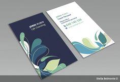 Bussiness Card - Coaching by Stella Belmonte, via Behance
