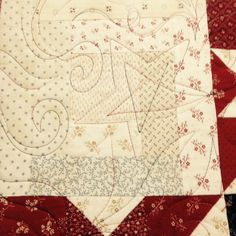 Unregulated, free motion quilting by Ann Olson