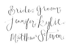 custom calligraphy wedding place cards