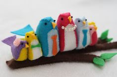 these little birdies are just too cute ~free pattern