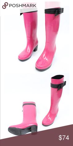 """Kate Spade Bow Wellies Excellent condition - 2"""" heel - Bow detail on each side - Rubber - Price firm no trades - buy for less & more pics at www.chicboutiqueconsignments.com! MA's #1 designer consignment boutique! kate spade Shoes Winter & Rain Boots"""