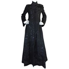1960s Phenomenal George Halley Sequin Evening Coat | From a collection of rare vintage coats and outerwear at https://www.1stdibs.com/fashion/clothing/coats-outerwear/