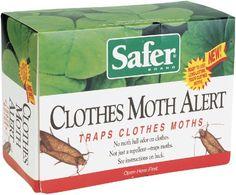 Safer Brand 07270 Clothes Moth Alert Trap Safer brand