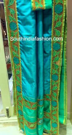 Silk Cut Work Sarees ~ Celebrity Sarees, Designer Sarees, Bridal Sarees, Latest Blouse Designs 2014