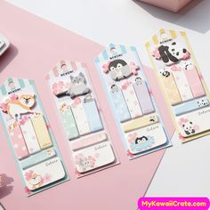 Pretty Kawaii  Rabbit BUNNY Sticky Notes Memo Pad Planner Journal Note