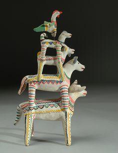 by Heron Martinez Mexican Artists, Mexican Folk Art, Colonial Art, Mexican Crafts, Arte Popular, Animal Heads, Land Art, Urban Art, Traditional Art