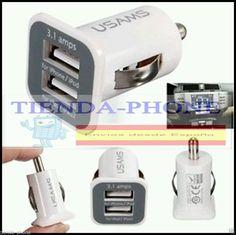 3.1A Doble USB CARGADOR COCHE MECHERO+CABLE MICRO USB PARA SAMSUNG S3 S4 S5 S6,,