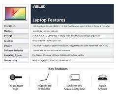 ASUS VivoBook Ultra K14 K413JA Laptops in Stock on Amazon India