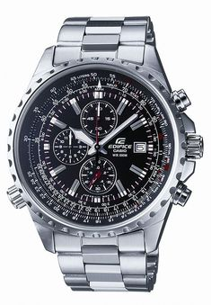 Casio Edifice Mens Stainless Steel Chronograph Watch EF527D-1AV