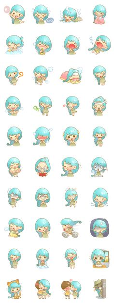 My name is Sai-Mai. I'm a sweetie girl but sometimes I'm so crazy and so scary. Nice to meet you in Line Stickers. Kawaii Chibi, Cute Chibi, Anime Chibi, Chibi Characters, Cute Characters, Kawaii Stickers, Cute Stickers, Printable Stickers, Planner Stickers