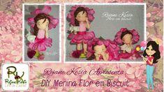 DIY Menina Flor em Biscuit - Rejane Kesia Biscuit