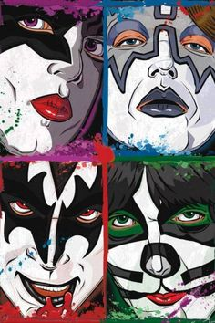 Kiss Comic Book Style.