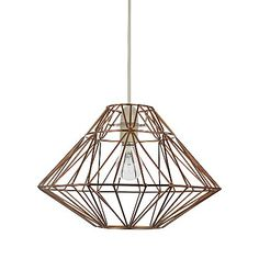 George Home Bronze Effect Wire Origami Pendant | Lighting | George at ASDA