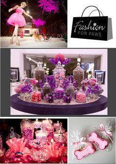 Purple Candy bar for a fundraiser. Wedding candy bar inspiration