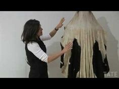 Irish artist Dorothy Cross explains how she made her 'Virgin Shroud', by stitching together a cow-hide, complete with udders, and her grandmother's old weddi. Textile Patterns, Textiles, Feminist Art, Art Tutorials, Female Art, Music Videos, Colours, 3d, Film
