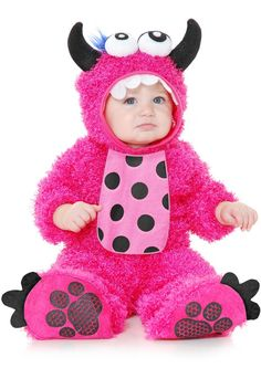 Infant/Toddler Hot Pink Little Monster Madness Plush Costume - Candy Apple Costumes - Girls' Costumes