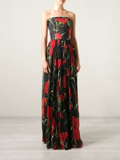 Dolce & Gabbana Carnation Print Brocade Dress - Smets - Farfetch.com