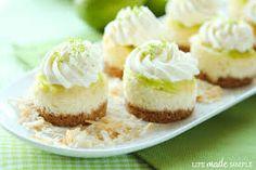 mini lime cheesecakes!! xx